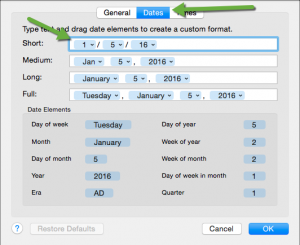 screen capture of formatting screen